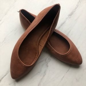 Frye Shoes - Frye Regina Leather Ballet Flat Sz 9.5 cognac